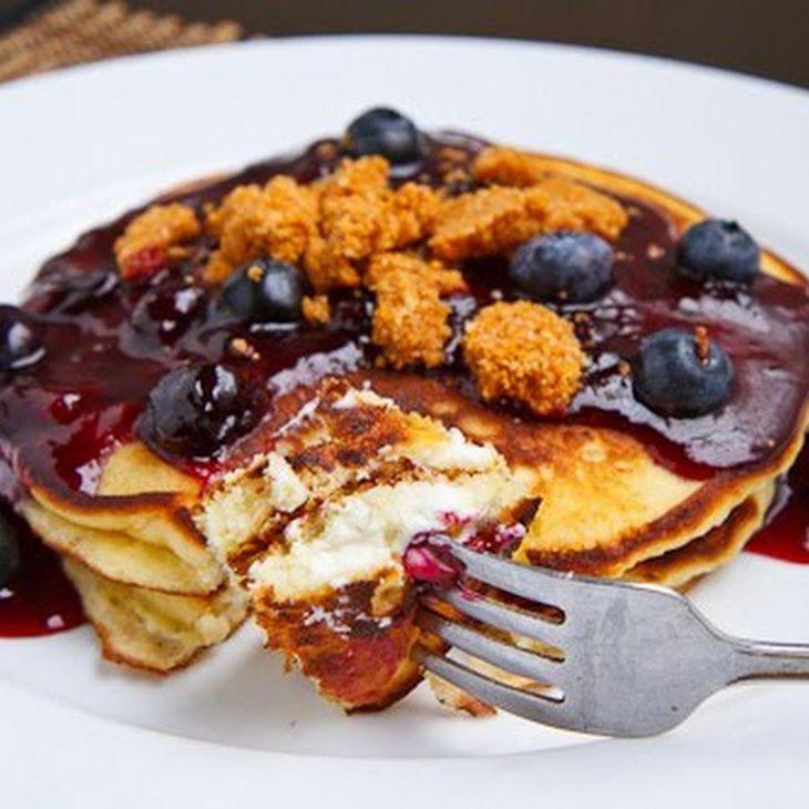 Blueberry Cheesecake Pancakes Recipe | Pancake Recipes | Pinterest