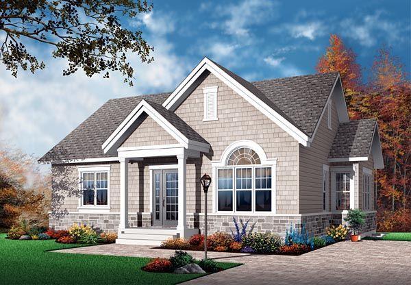 Bungalow Craftsman European House Plan 64889