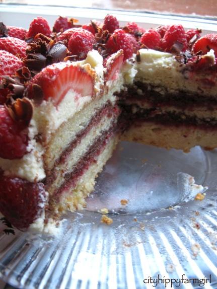 Raspberry Chocolate Layer Cake   yummy things i must try!   Pinterest