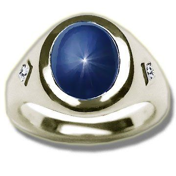 Black Ring With Blue Sapphire