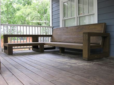 Outdoor sectional couch build pinterest