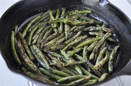 Chinese style Green Beans 1-2 pounds green beans ½ teaspoon salt 2-3 ...