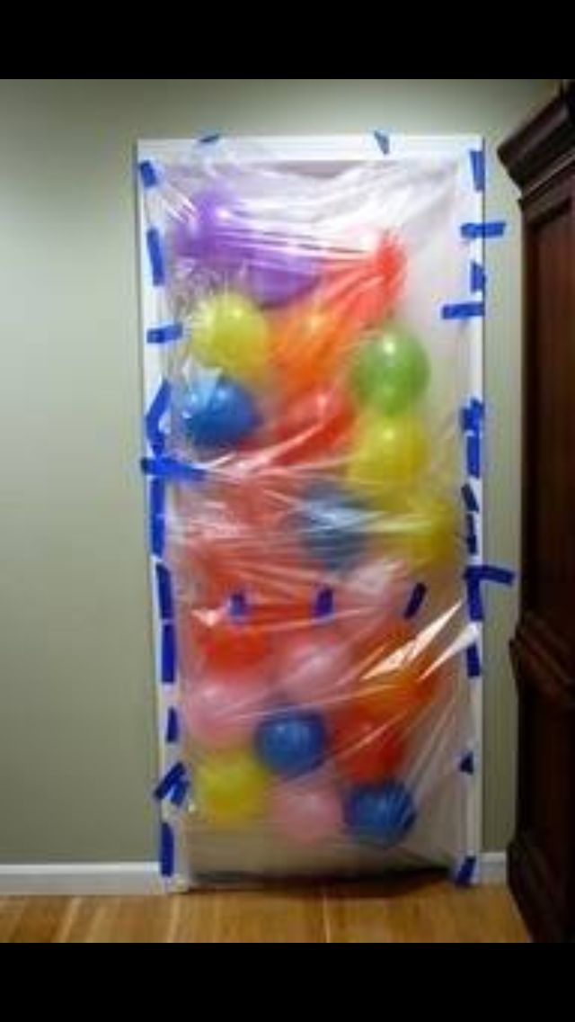 Balloon wall for kids on their birthdays or first day of school.