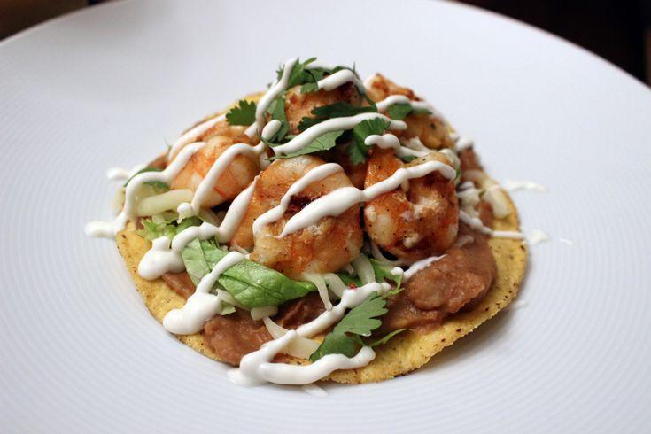 Grilled Shrimp Tostada | Yum Delights | Pinterest