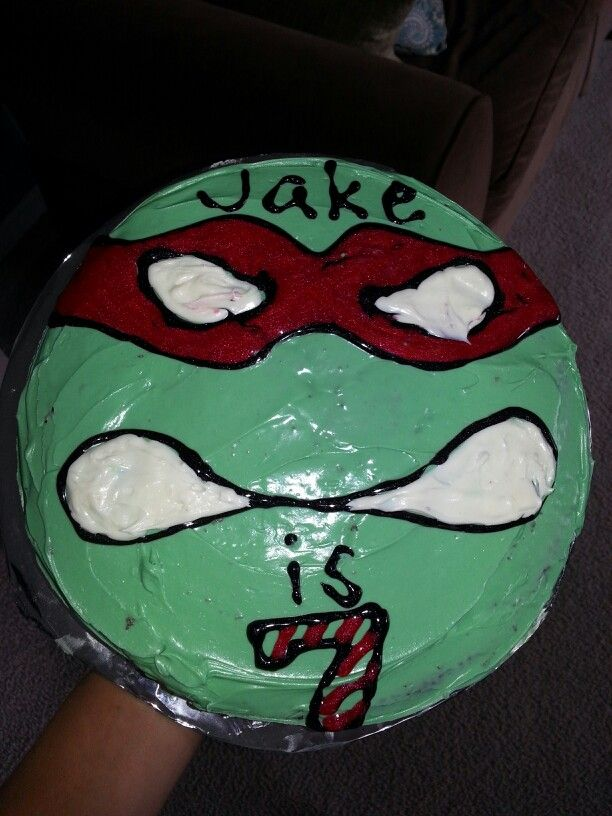 Easy Ninja Turtle birthday cake. | My Own Creations ...