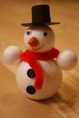 Ba wanek z kulek kids crafts winter pinterest