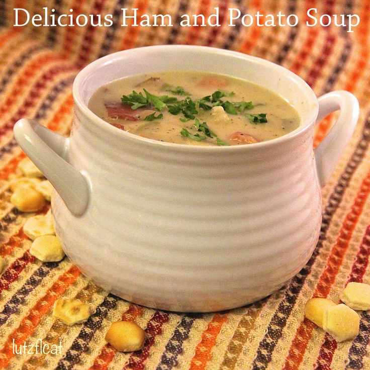 Delicious Ham and Potato Soup is so good and so easy to make. It's ...
