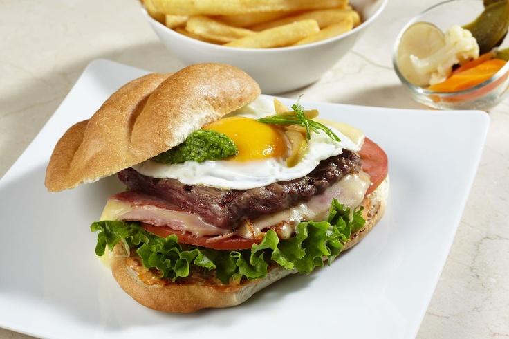 Skirt steak sandwich with egg and pesto | The SANDWICH Shop! | Pinter ...