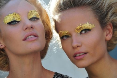 Fendi 2012 Gold-leaf make up