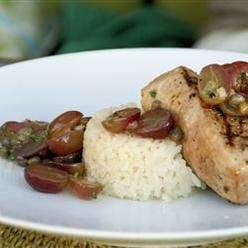 , Grilled Tuna Steaks With Grape And Caper Salsa, Grilled Tuna Steaks ...