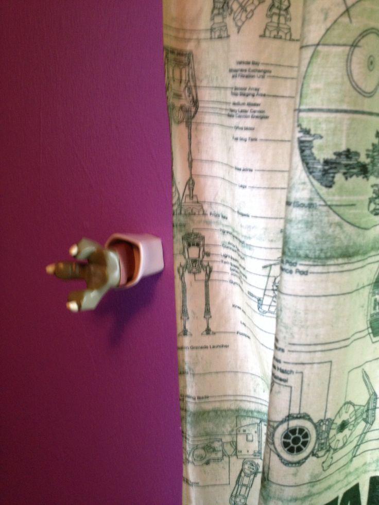 Nursery curtains tie back : Star wars tie back curtain