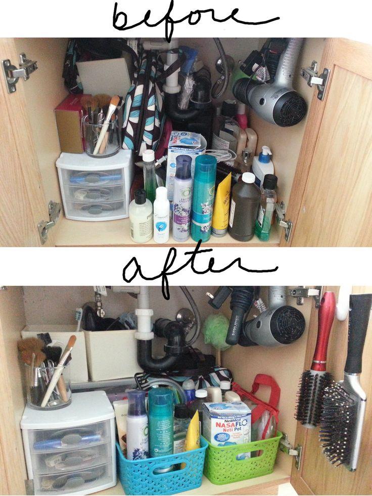 Organizing under the bathroom sink getting organized pinterest