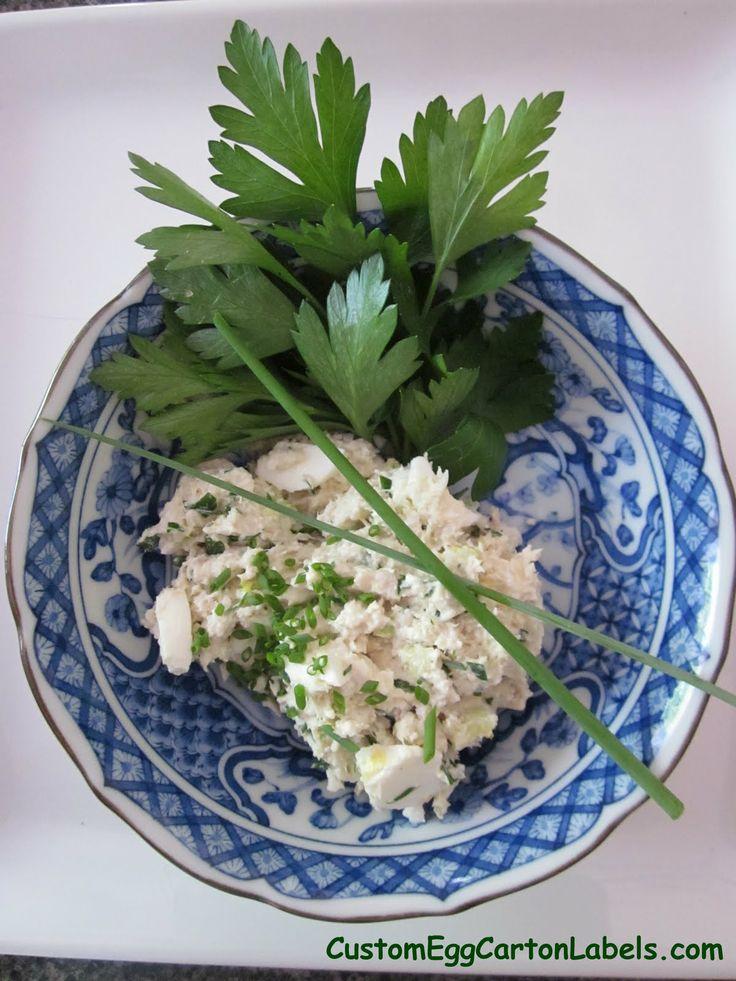 Tuna Egg Salad Recipe 1 can of tuna fish, drained 2 hardboiled eggs ...