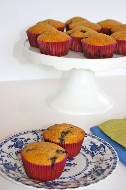Blueberry honey cornmeal muffins | Muffins | Pinterest