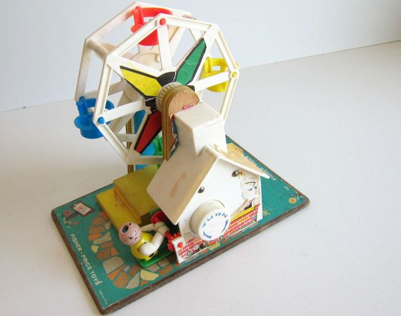 Vitnage Fisher Ferris Wheel 60's toy Music box by ThePantages, $29.00