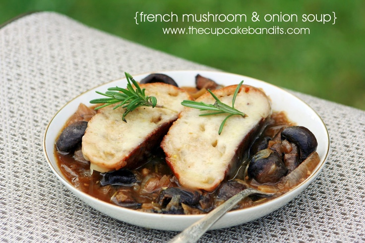 French Mushroom-Onion Soup Gratinee | Food/Recipes | Pinterest