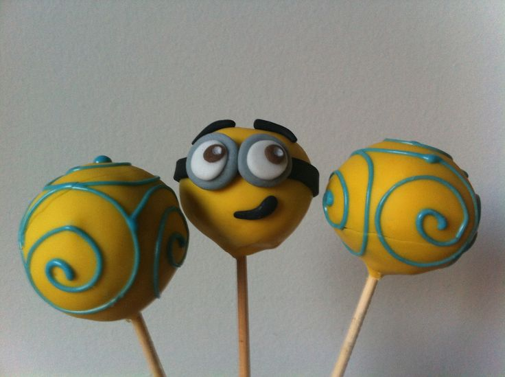 Minion Cake pops Pirulitos e cake pops Pinterest
