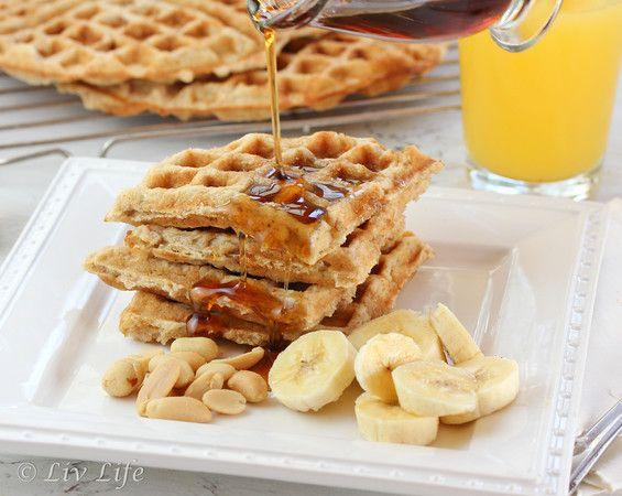 Peanut Butter Waffles | Peanut Butter | Pinterest