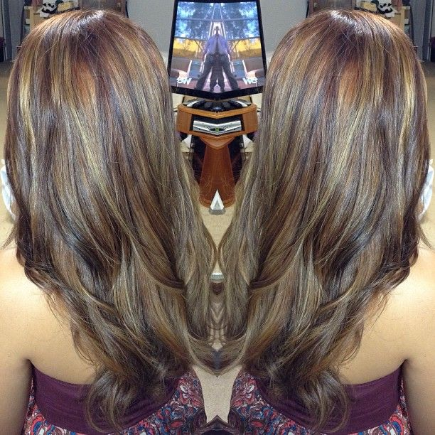 Tri color balayage highlight make up amp hair pinterest