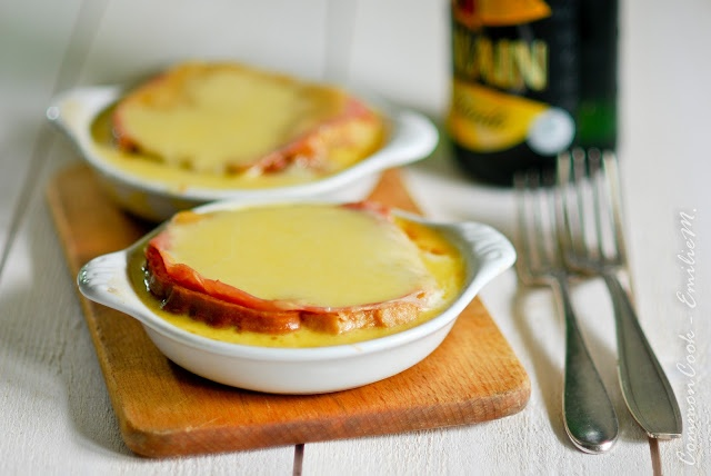 Welsh Rarebit On Beer Waffles With Bacon And Tomatoes Recipe ...