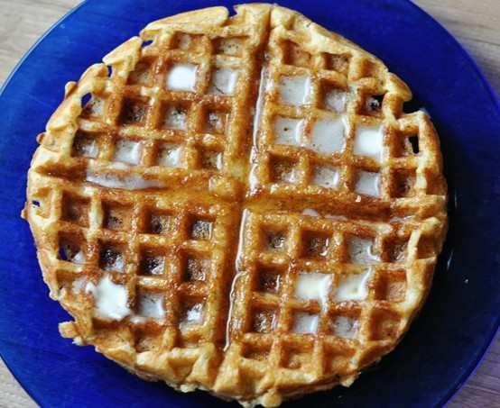 two peas their waffles brown butter banana waffles banana waffle ...