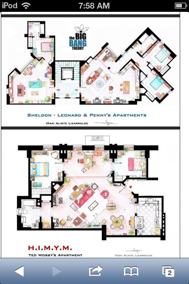 Tv Show Floor Plans Sims Pinterest