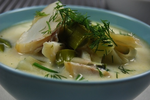 Smoked Haddock Soup Recipe — Dishmaps
