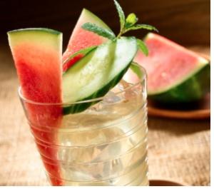 green tea watermelon cucumber cooler   have a bevi   Pinterest
