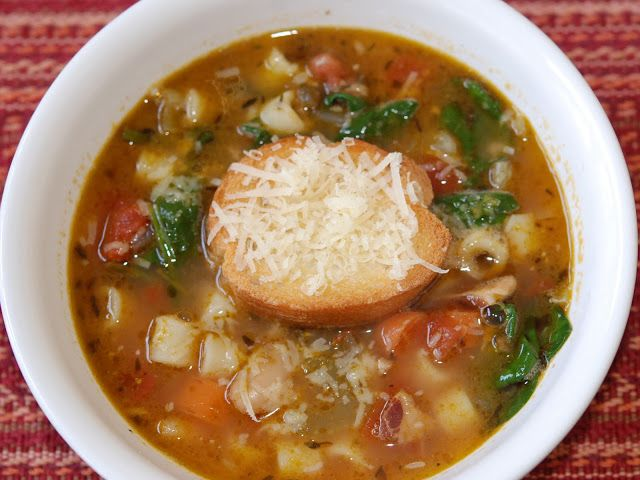 marys bites: Winter Minestrone and Garlic Bruschetta from Ina Garten's ...