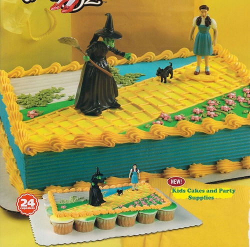 Cake Decorations For Wizard Of Oz : WIZARD OF OZ CAKE KIT TOPPER Dorothy Toto Wicked Witch ...