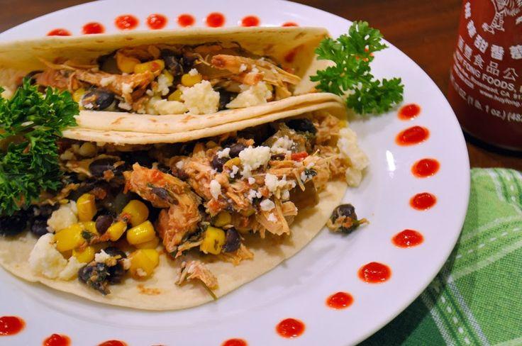 Crock Pot Cilantro Lime Chicken Soft Tacos- 10 minutes into the pot ...
