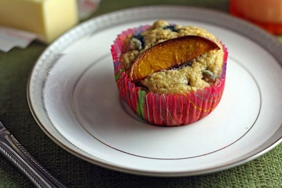 Blueberry-Peach Bran Muffins | Healthy. Delicious.