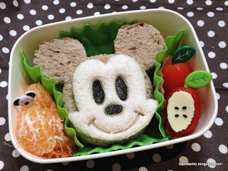 mickey mouse bento | bento art | Pinterest