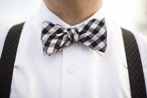 black and white gingham bow tie | Millie Holloman