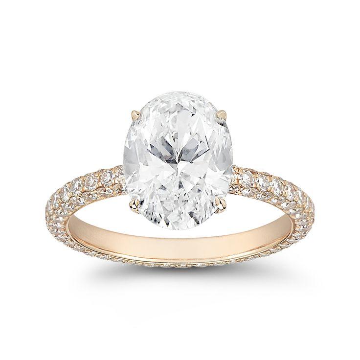 Rose Gold Oval Engagement Ring weddingzilla