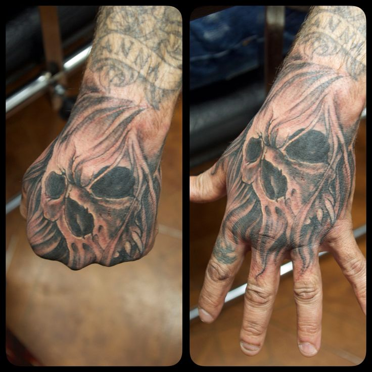 Skull Hand Tattoo Drawing