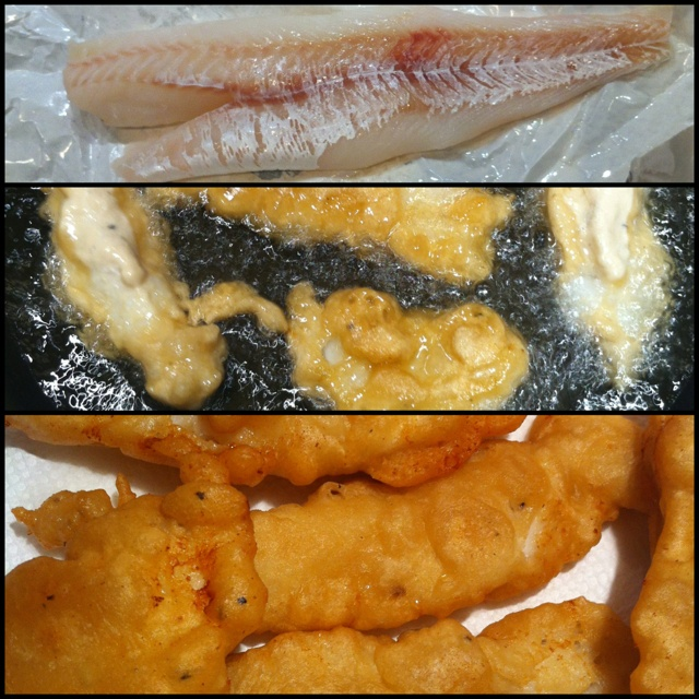 Locally caught cod. Beer-battered and fried for Baja-style Fish Tacos
