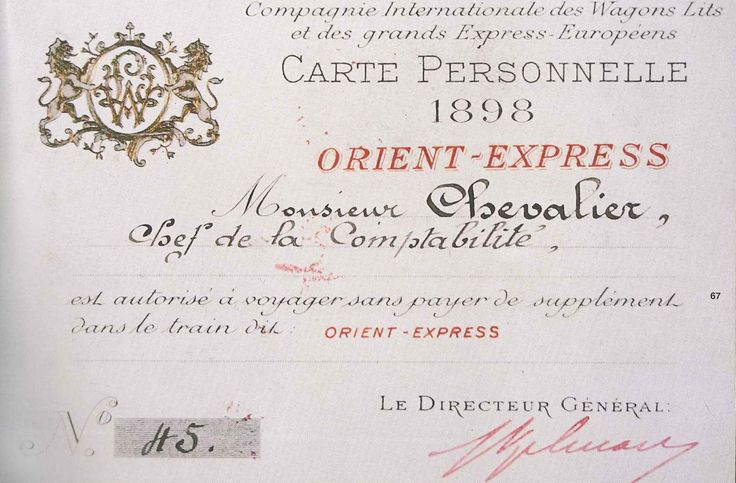 Ticket orient express