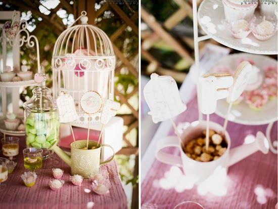 Estilo Vintage Decoracion De Fiestas ~ Details of the cookies for this cute birds and cages themed party