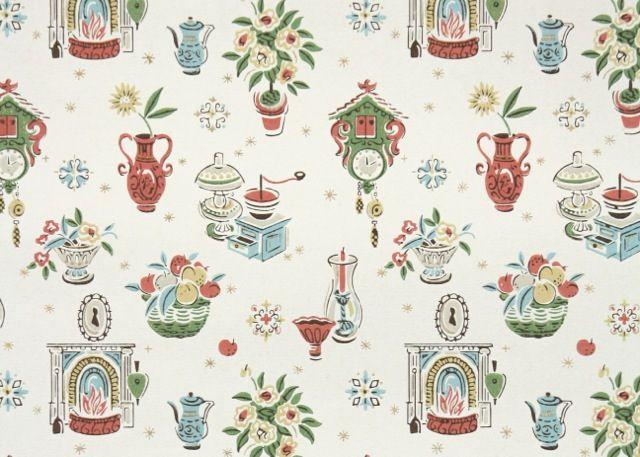 Vintage Kitchen Wallpaper | Wallpaper, paint & tiles ...