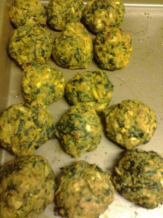 Spinach balls   Healthy Eats   Pinterest