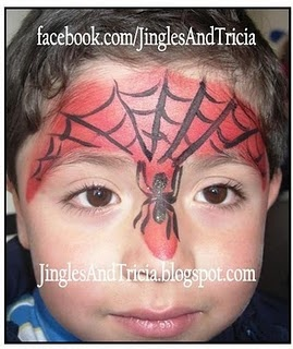 Face Painting - Easy SpiderMan inspired quick face.