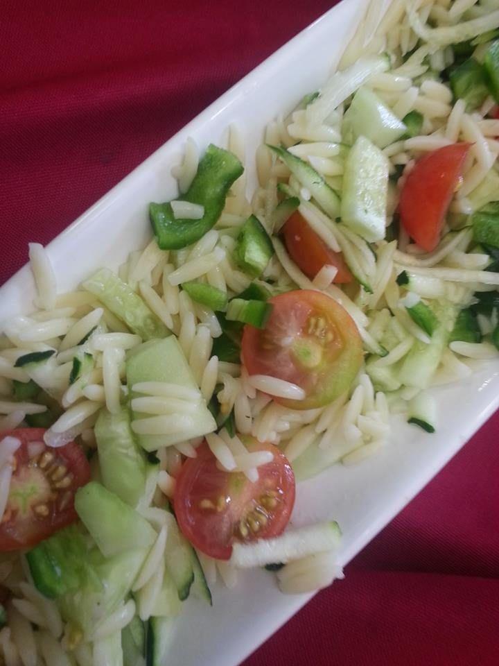 Orzo & Cherry Tomato Salad | food likes | Pinterest
