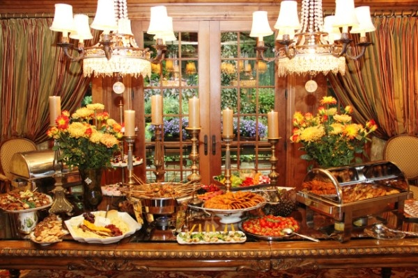 Gallery For gt Fall Buffet Table Decorations