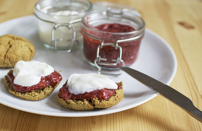 Quinoa Scones and Chia Seed Strawberry Jam