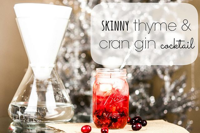 Skinny thyme & cran gin cocktail | Food & Drink | Pinterest