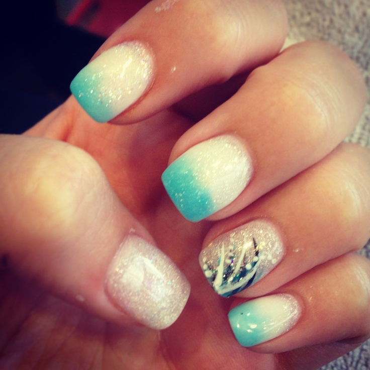 Silver Nail Designs For Prom: My Prom Acrylic Nails :) #prom