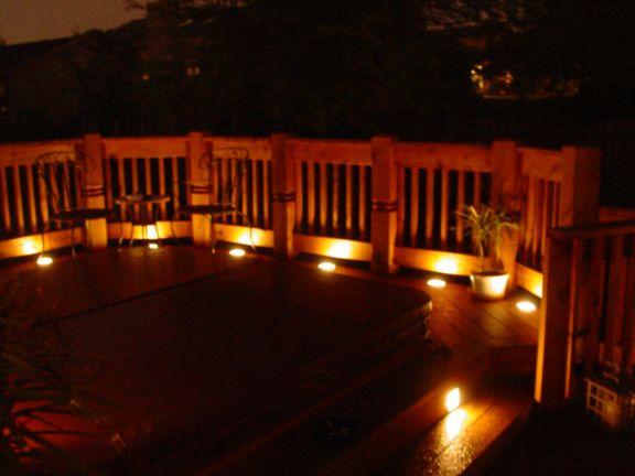 led deck lighting go outside pinterest