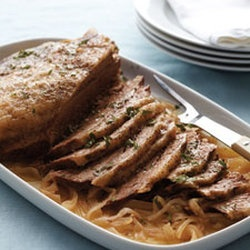 Slow-Cooker Brisket and Onions — Punchfork