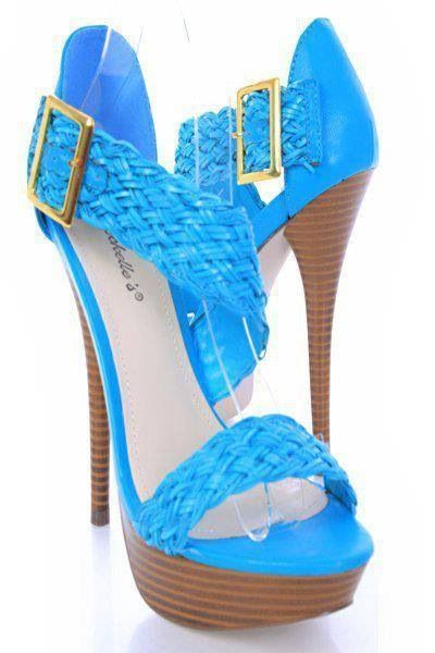 baby blue high heels shoes